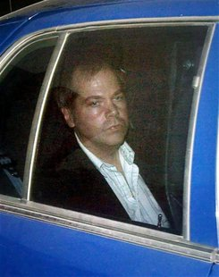 John Hinckley Jr. arrives at the E. Barrett Prettyman U.S. District Court in Washington in this November 19, 2003 file photo