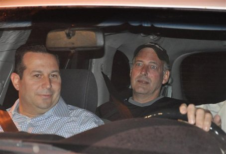 Gary Giordano is pictured with Attorney Jose Baez after release from jail in Aruba