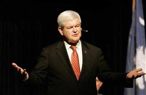 Republican presidential candidate and former US House Speaker Gingrich takes part in a town hall meeting in Newberry