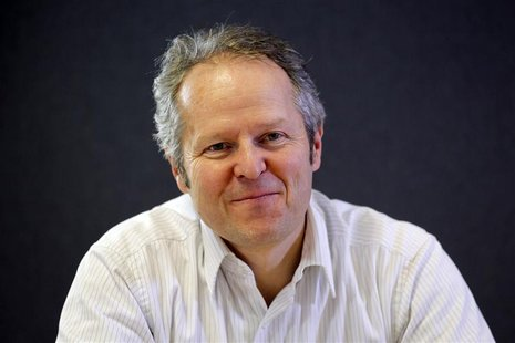 Yves Guillemot, CEO and founder of Ubisoft, addresses the Reuters Global Media Summit in Paris
