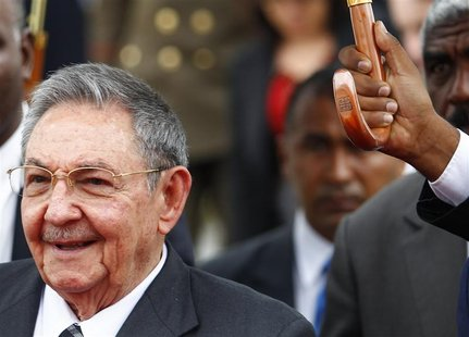 Cuba's President Castro arrives to attend the plenary session of the CELAC summit in Caracas