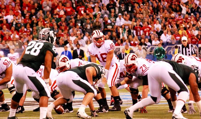Wisconsin and Michigan State meet in the inaugural Big Ten Championship game at Lucas Oil Stadium December 3, 2011. The Badgers won 42-39. Photos by Sean Patrick Duross.