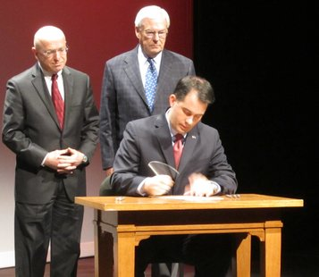 Governor Walker signs a bill diversifying the UW Board of Regents.