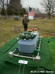 A funeral for Jane Doe was held in Waupun on Wednesday, December 7, 2011. (courtesy of FOX 11)