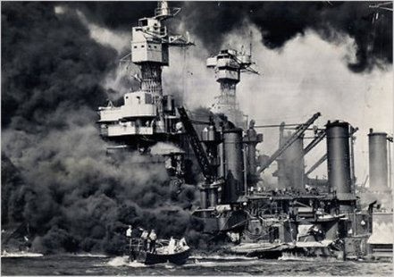 Attack on Pearl Harbor (U.S. Navy photo)