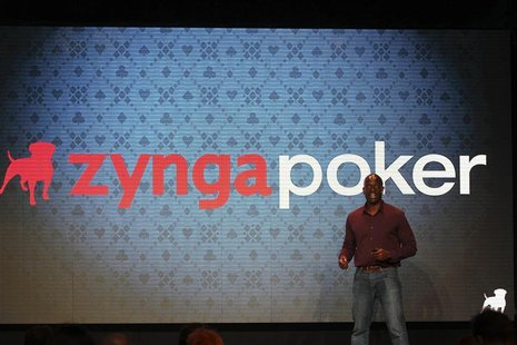 Zynga General Manager Lo Toney takes the stage at the Zynga Unleashed event at the company's headquarters in San Francisco