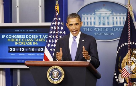 Obama speaks from the White House in Washington