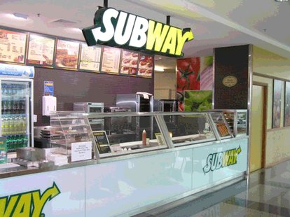 A stock image shows a Subway restaurant similar to the restaurant where a KVCC police officer left his weapon.