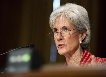 Kathleen Sebelius, Secretary of Health and Human Services, testifies to the Senate Finance Committee