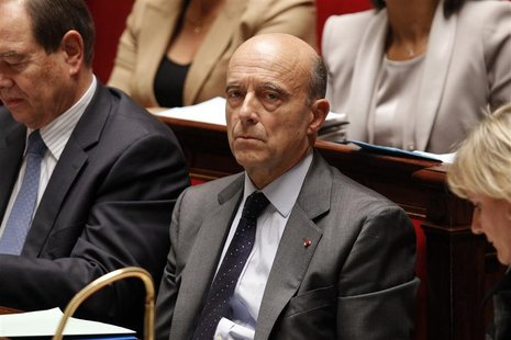 France's Foreign Affairs Minister Juppe attends the government question session at the National Assembly in Paris
