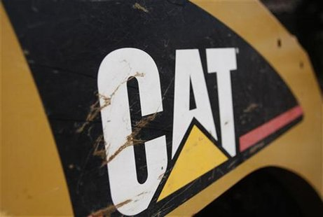 The Caterpillar logo is seen on a tractor in Gilbert