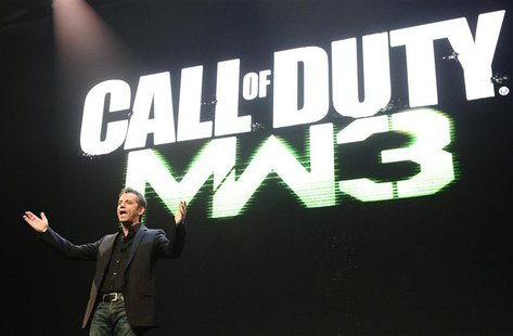 "Activision Publishing CEO Eric Hirshberg speaks during the premiere of the video game ""Call of Duty: Modern Warfare 3"" in Los Angeles"