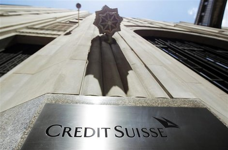 The U.S. headquarters of Swiss bank Credit Suisse is seen in New York City