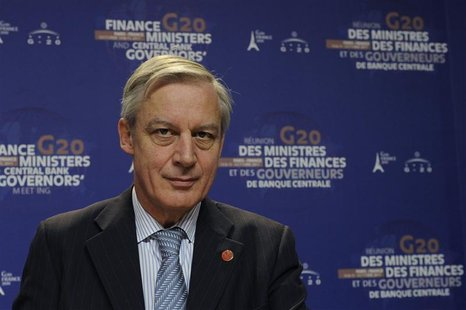 French Central Bank Christian Noyer attends a news conference at the end of the G20 meeting of Finance Ministers and Central Bank Governors