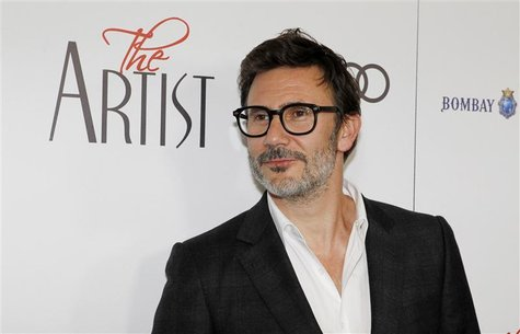 "French director Michel Hazanavicius poses at a special screening of his film ""The Artist"" in Beverly Hills"
