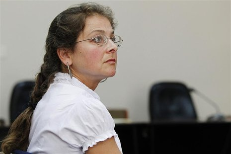 U.S. citizen Lori Berenson attends a hearing which reviews her parole at an anti-terrorism court in Lima