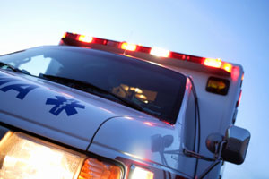 Man escapes injury in semi accident
