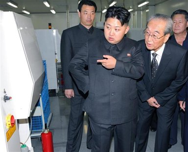 Kim Jong-un, son of North Korean leader Kim Jong-il, visits Mokran Video Company in Pyongyang