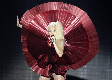 Lady Gaga performs at the MTV Europe Music Awards show in Belfast