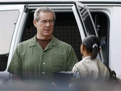 R. Allen Stanford arrives at federal court for a hearing before U.S. District Judge Nancy Atlas in Houston