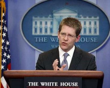 White House Press Secretary Jay Carney REUTERS/Kevin Lamarque