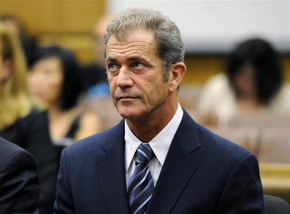 Actor Mel Gibson attends a hearing in Los Angeles Superior Court to finalize financial issues in a custody battle