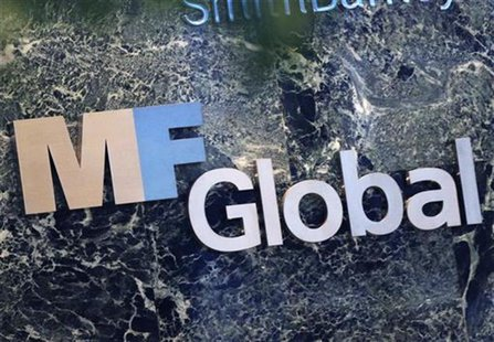The sign marking the MF Global Holdings Ltd. offices at 52nd Street in midtown Manhattan is seen in New York