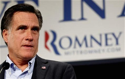 Republican presidential candidate Romney delivers remarks at the Hotel Blackhawk in Davenport