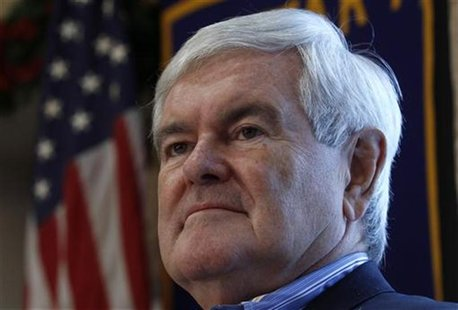 Republican presidential candidate Gingrich attends a campaign stop in Dubuque, Iowa