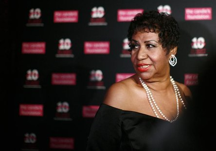 Singer Aretha Franklin arrives at the Candie's Foundation 10th anniversary Event to Prevent benefit New York