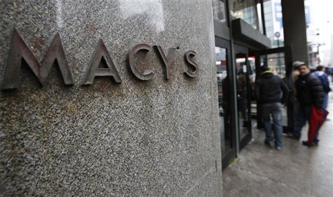 The entrance to Macy's department store is seen in New York, May 12, 2010.
