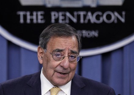 Secretary of Defense Leon Panetta details the Defense Strategic Review after it was introduced by President Barack Obama at the Pentagon.