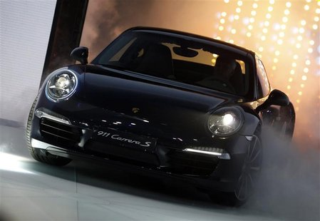 The new Porsche Carrera 911 S is presented at the International Motor Show (IAA) in Frankfurt