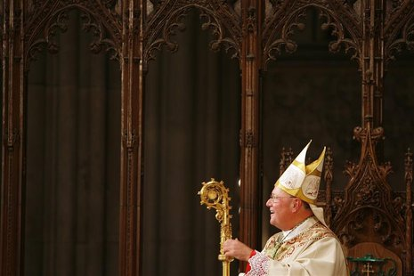 Archbishop Timothy Dolan participates in Mass of Installation ceremony at St. Patrick's Cathedral in New York