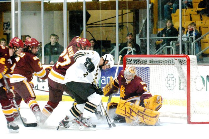 The #8 Broncos host #1 Minnesota-Duluth, 01/06/12. The Bulldogs prevailed 4-1. Photos by Sean Patrick Duross.