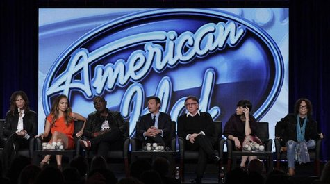 "Hosts, producers and executives of ""American Idol"" take part in a panel session at the FOX Winter TCA Press Tour in Pasadena"