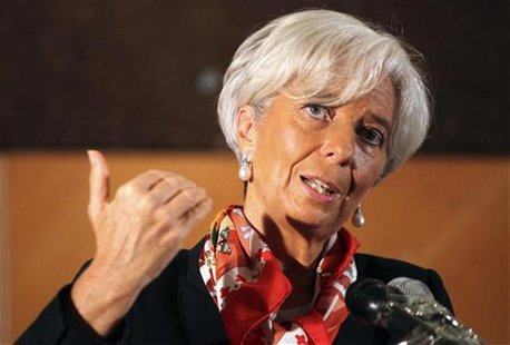 International Monetary Fund director Christine Lagarde speaks during a conference on 'Africa's Future: Responding to Today's Global Economic