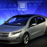 A General Motors Co Chevrolet Volt is seen during a news conference at GM's Warren Technical Center in Warren