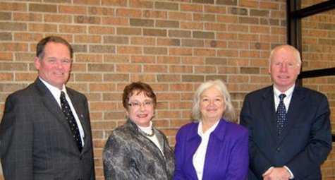 (left to right) Allegan County's Sheriff Blane Koops, Clerk Joyce Watts, Treasurer Sally Brooks and Prosecutor Fred Anderson (photo courtesy Allegan Co. Sheriff's Office).