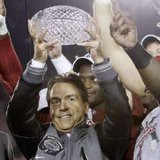 Alabama Coach Nick Saban. REUTERS/Danny Moloshok