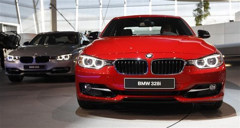 BMW 328i is pictured during world premiere of company's new 3 series in Munich