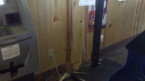 Damages inside of the Denmar Bar in Wausau after a vehicle struck the building in a winter weather accident.