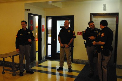 Heightened Security at the Sheboygan County Courthouse Thursday Morning