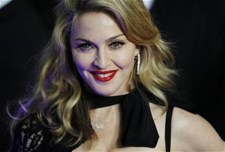 Director Madonna arrives for the premiere of her film W.E. in London