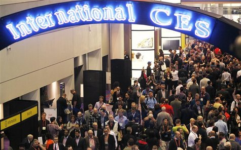 Attendees jam the halls on the opening day of the Consumer Electronics Show in Las Vegas