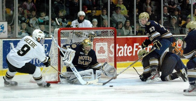 #10 Western Michigan hosts #3 Notre Dame, 01/14/12. The Broncos defeated the Irish 3-1.  Photos by Sean Patrick Duross.