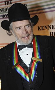 File photo of Haggard arriving on the red carpet for the Kennedy Center Honors at the Kennedy Center in Washington