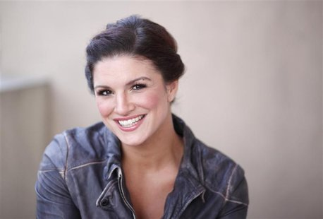 "MMA fighter and actress Gina Carano poses for a portrait while promoting the film ""Haywire"" in Beverly Hills"
