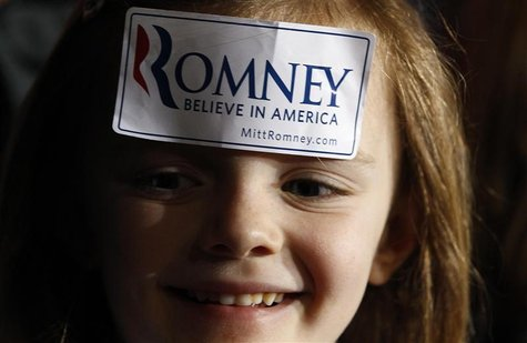 A supporter of U.S. Republican presidential candidate Romney attends a campaign rally in Rock Hill.