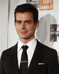 Jack Dorsey, co-founder of Twitter, poses on the red carpet before the 6th Annual WITNESS Focus for Change benefit in New York